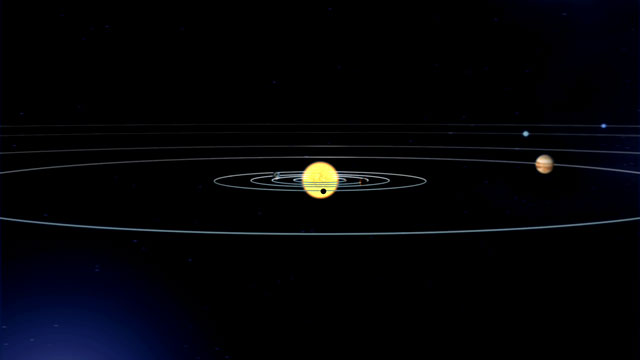 Artist's impression of the Solar System