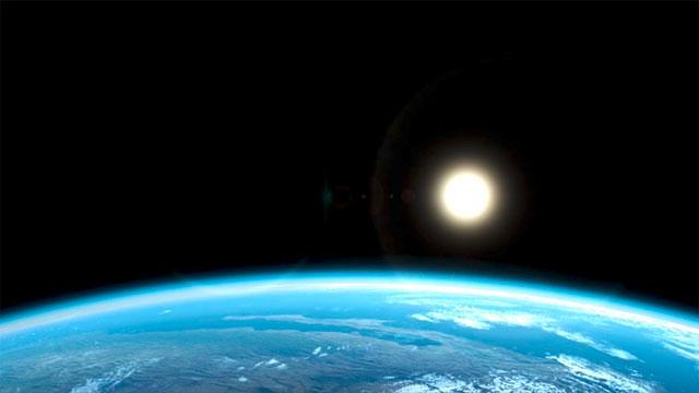 Earth rotating  (artist's impression)