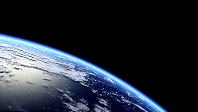 Over planet Earth  (artist's impression)
