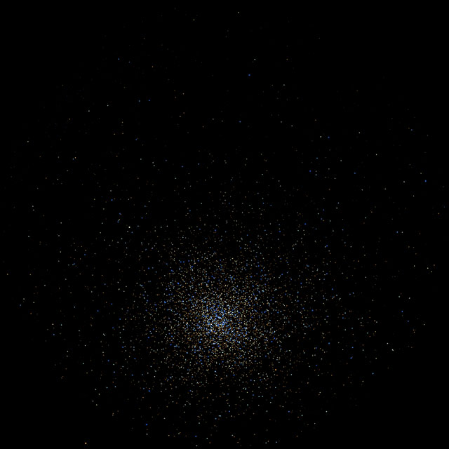 Fulldome visualisation of a globular star cluster