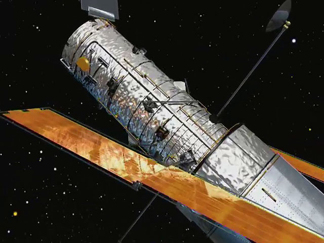 The NASA/ESA Hubble Space Telescope, old solar panels
