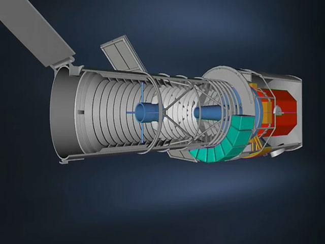 Internal parts of the NASA/ESA Hubble Space Telescope