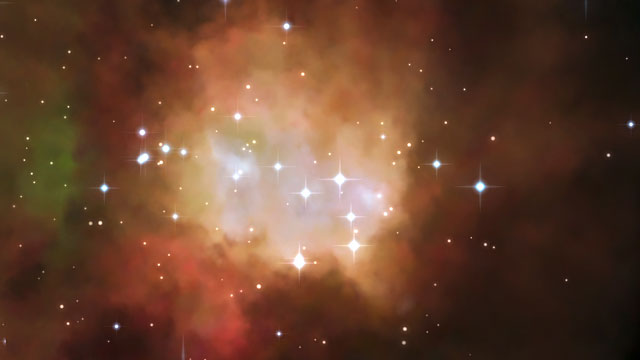 3D animation of the nebula NGC 2080