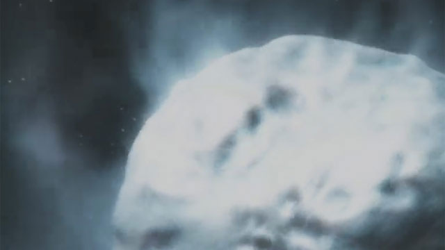 3D Animation - Rosetta comet Close-up