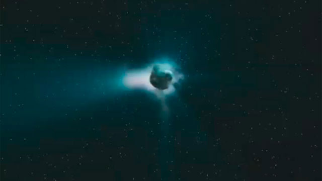 3D Animation - Rosetta comet Close-up