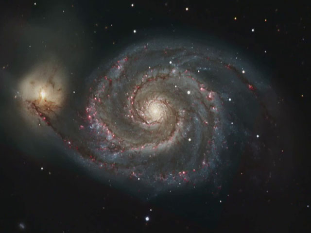 Zooming on the Whirlpool Galaxy