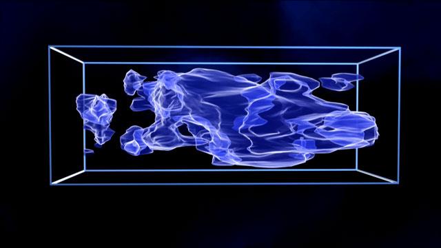 3D dark matter (artist's impression)