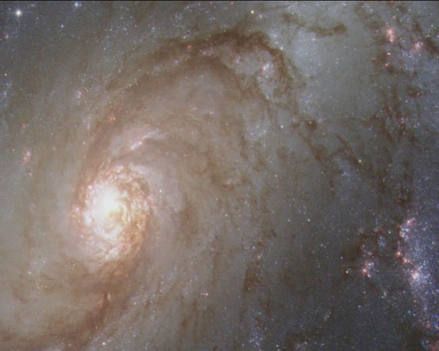 Panning on NGC 1672