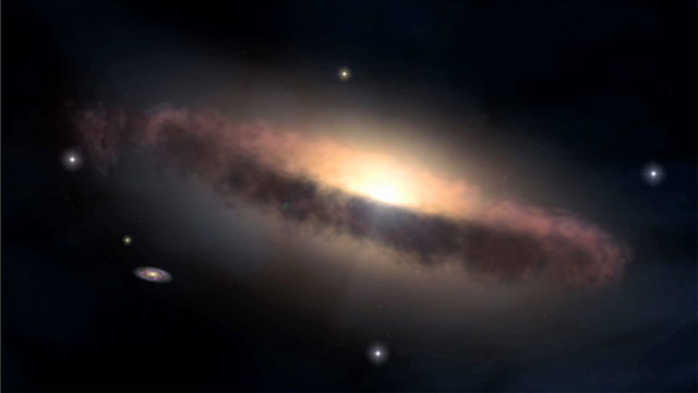 3D Animation of a galaxy