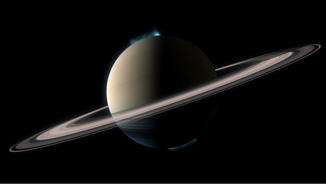 Animation of both of Saturn's aurorae