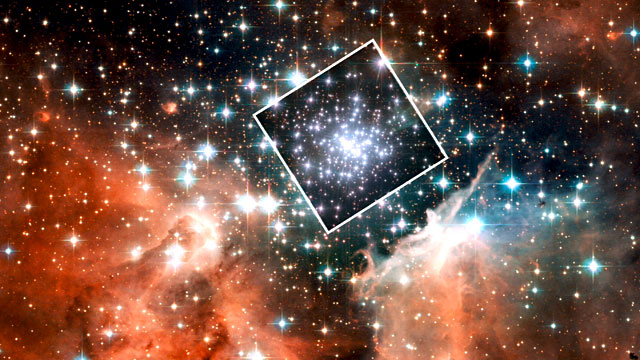 Zooming in on the massive compact star cluster in NGC 3603