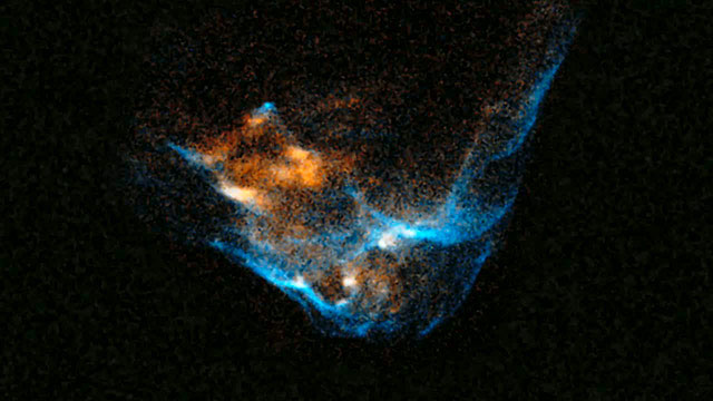 Bow shock in stellar jet HH 34