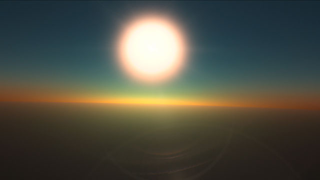 Sunrise on HD 189733b (artist's impression)