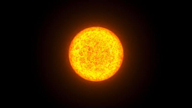 Animation of a variable star