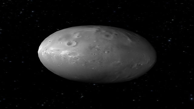 Animation of the chaotic spin of Pluto's moon Nix