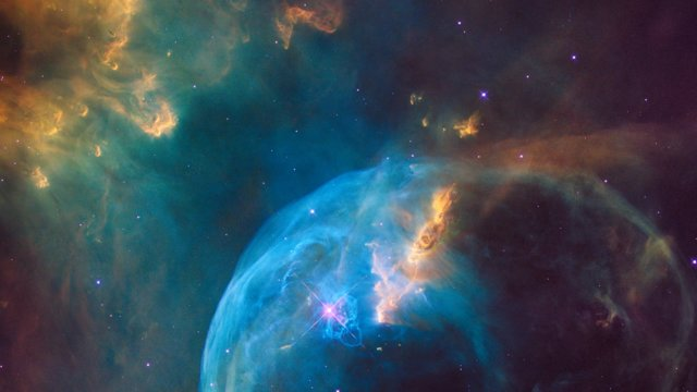 Pan across the Bubble Nebula