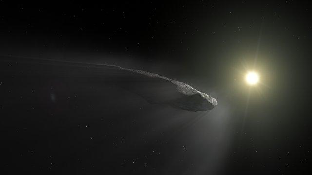 Animation Of  Oumuamua Outgassing