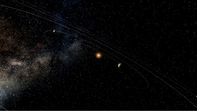 Virtual tour in our Solar System (Artist's impression)