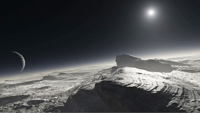 Artist's concept of the surface of Pluto