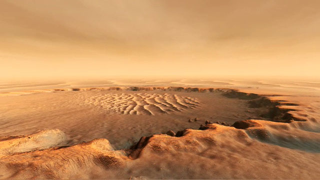 Artist's concept of the surface of Mars