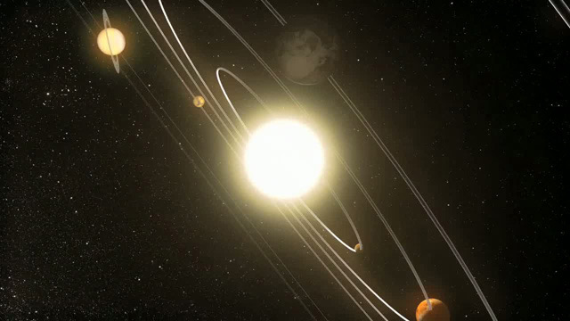 The Solar System (artist's impression)