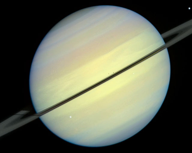 Movie Showcases Saturn and Rings Tilted Edge-on Toward the Sun