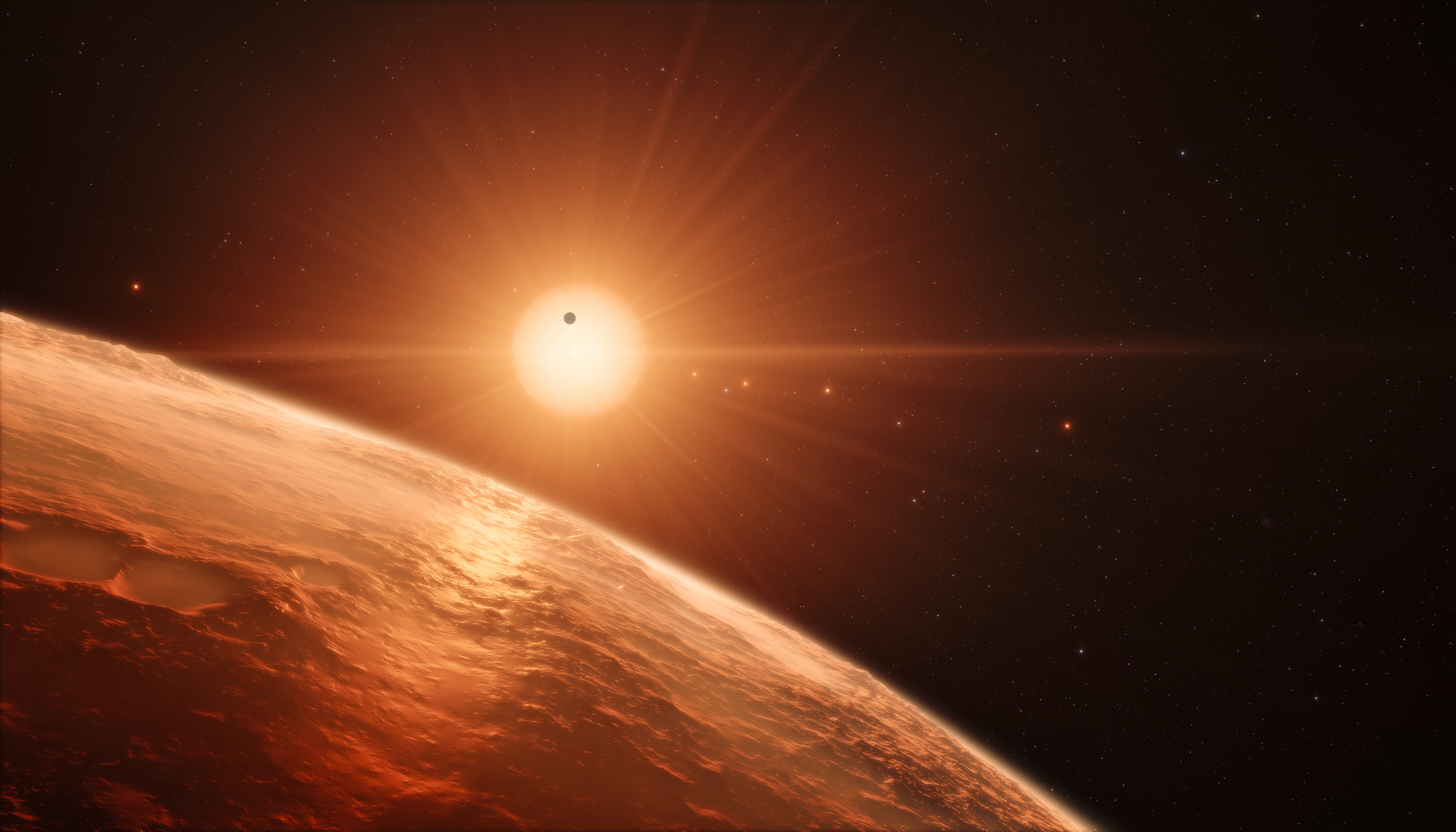 Artist S Impression Of The Trappist 1 Planetary System