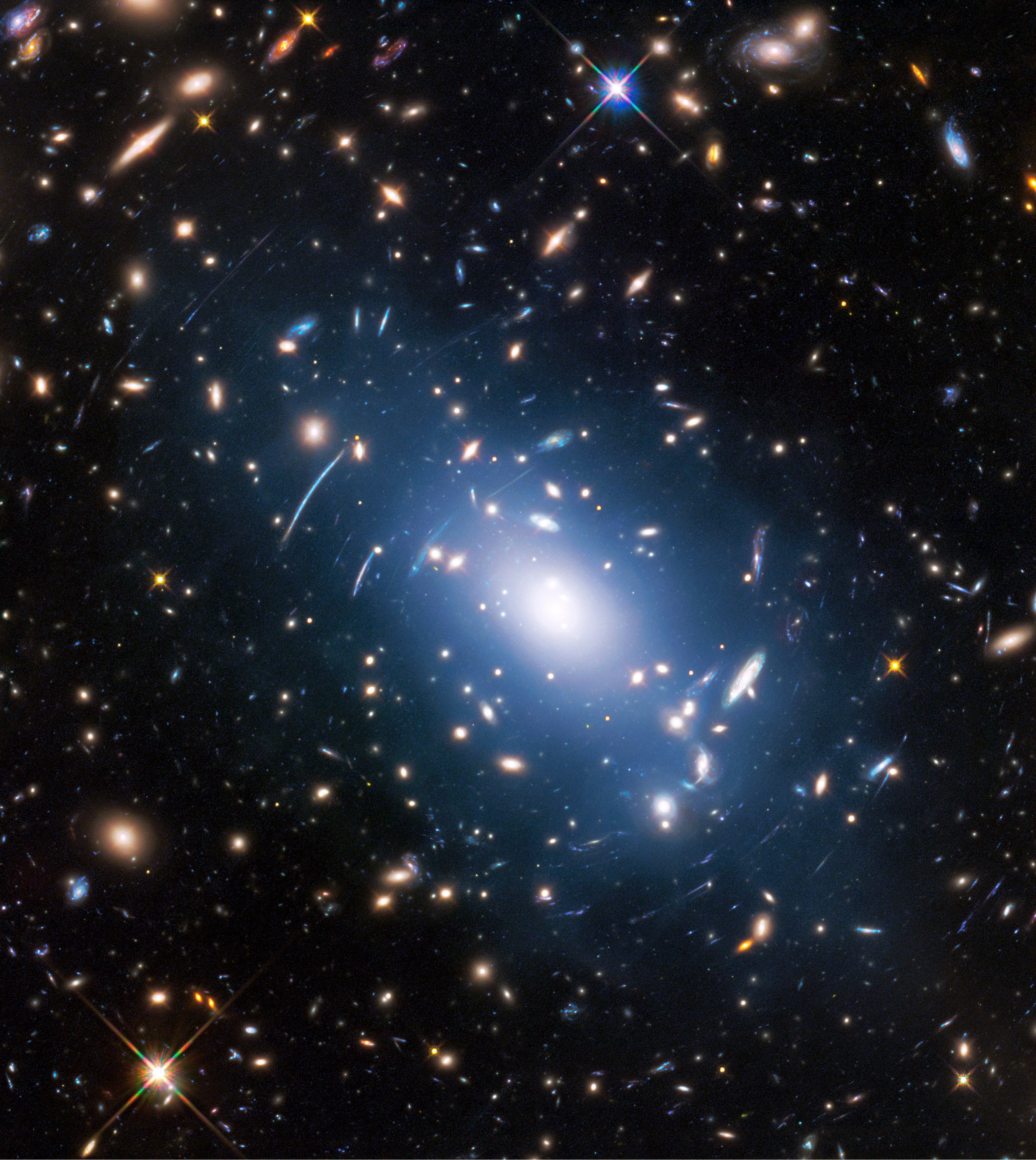 faint glow generated by galaxy clusters helps map dark matter