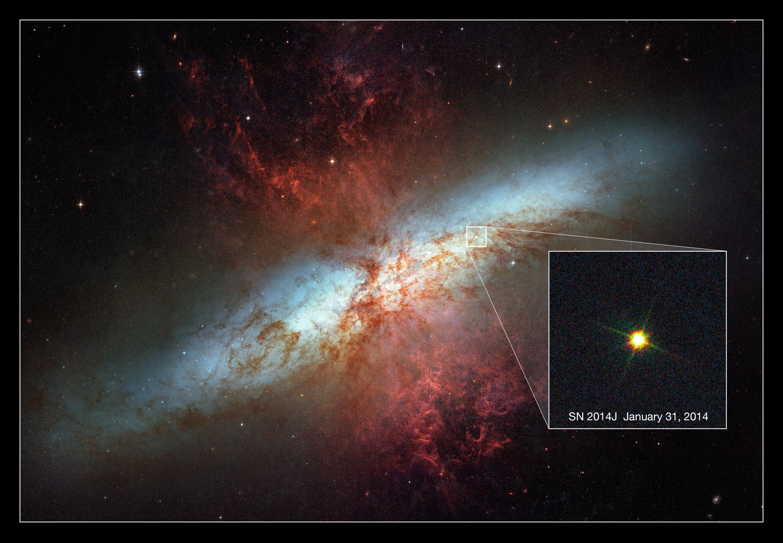 A supernova in Messier 82   thecuriousastronomer