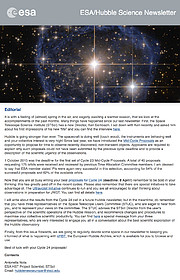 Screenshot of the March 2016 issue of the ESA/Hubble Science Newsletter