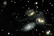 Stephan's Quintet - A Mammoth Cosmic Collision (Ground-based view)