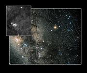 Constellation Scorpius with Digitized Sky Survey insert (ground-based image)
