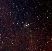 Cat's Eye Nebula image imaged with Digitized Sky Survey 2 (ground-based image)