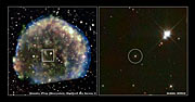 Hubble views suspected stellar survivor from 1572 A.D. supernova explosion