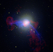 Radio/X-ray/Optical Image of M87