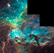 NGC 2074 imaged by Hubble on 100 000th orbit milestone