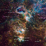 Ground-based image of NGC 2074