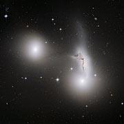 Trio of galaxies mixes it up