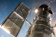 The NASA/ESA Hubble Space Telescope during Servicing Mission 4