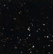 Stars in the Andromeda Galaxy's halo with background galaxies (1)
