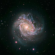 Hubble and Magellan composite image of Messier 83