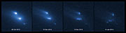 Asteroid P/2013 R3 breaks apart (labelled)