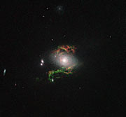 Hubble view of green filament in galaxy 2MASX J15100402+0740370