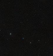 The night sky around the Twin Jet Nebula (ground-based image)