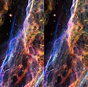 Stereo image of the Veil Nebula