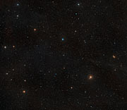 Ground-based view of the sky around the nearby star AU Microscopii
