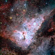Trumpler 14 embedded in the Carina Nebula