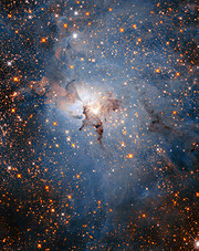 Infrared view of the Lagoon Nebula