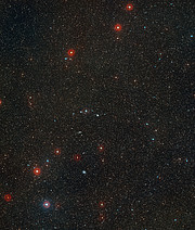 Wide-field image of NGC 3256 (ground-based image)