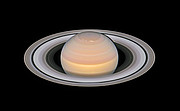 Saturn and its rings in 2018